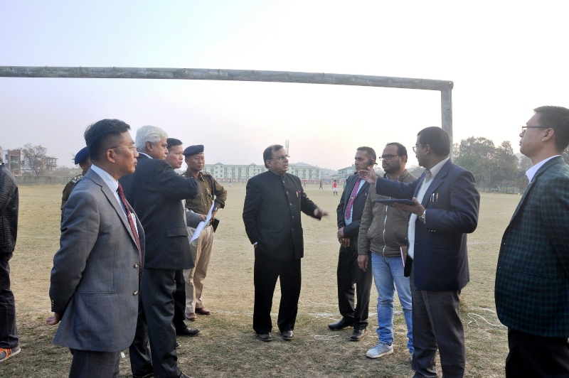 Inspection of Helipad for 105 ISC with Chief Secretary (Govt. of Manipur) , 24th-Feb-2018