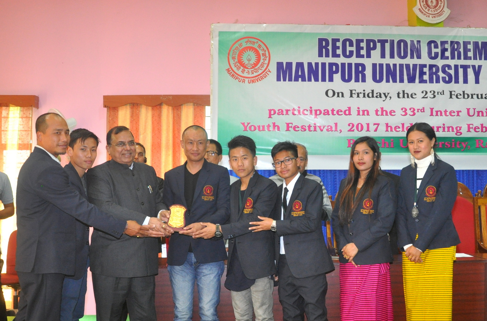 Reception Ceremony of the Manipur University Cultural Team